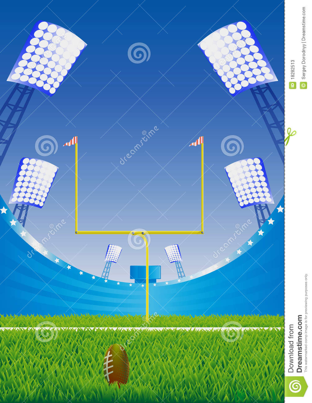 american football stadium stock illustration illustration of arena 18282513 dreamstime com