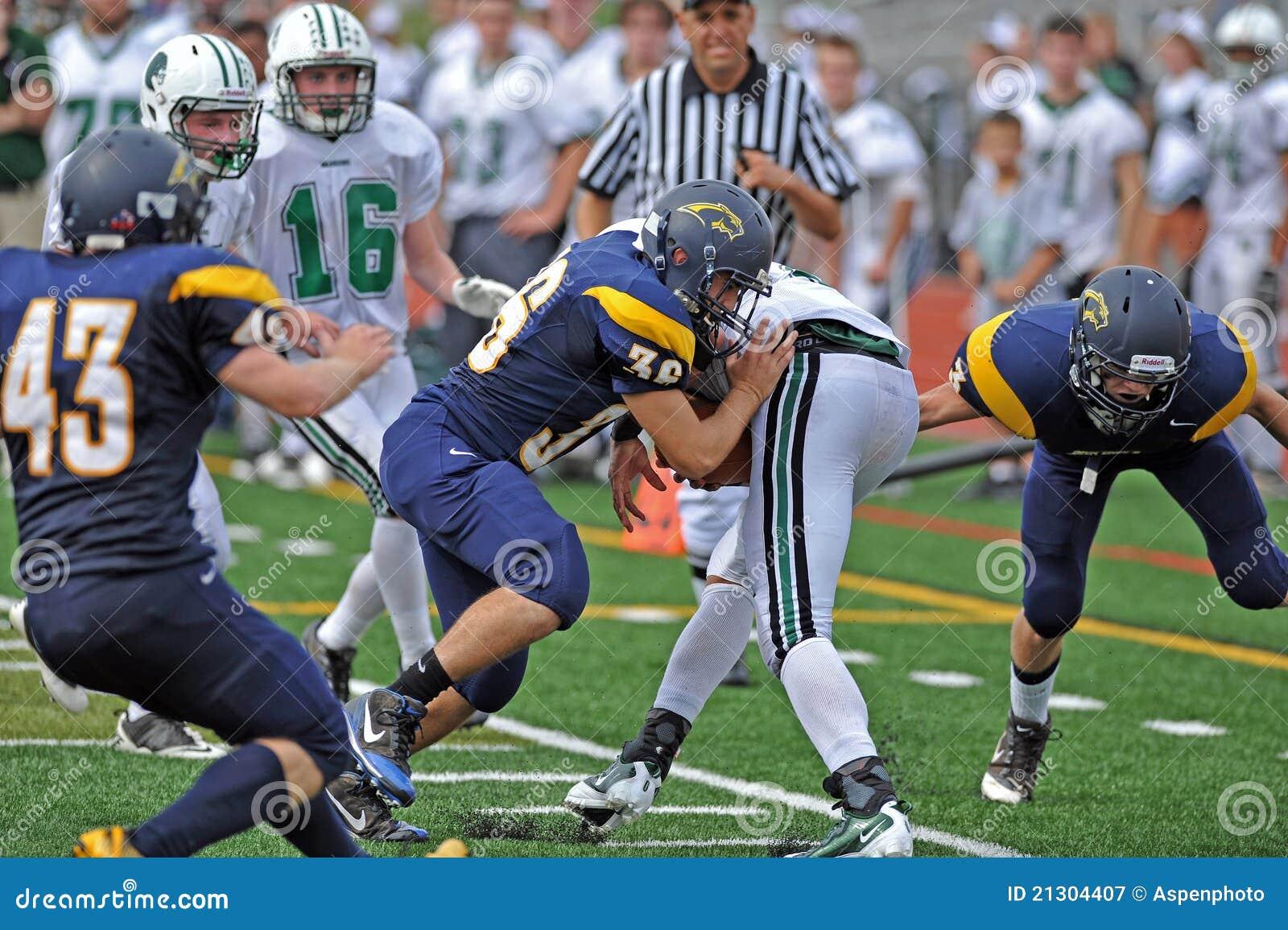 American football hard tackle