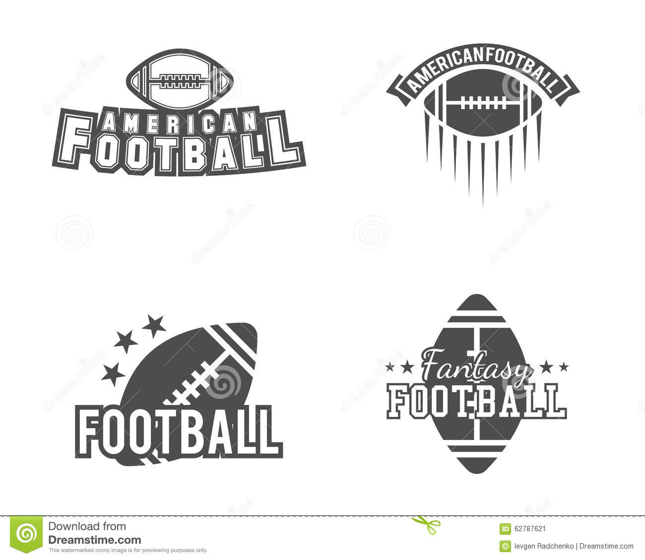 80c05b32c Royalty-Free Vector. American football team, college badges, logos