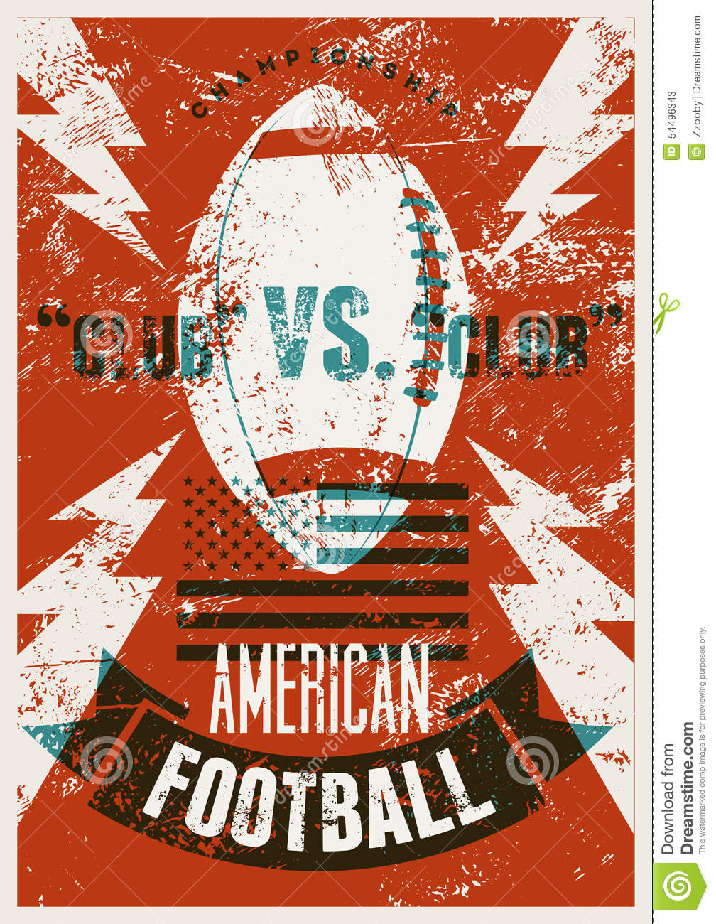 GREAT video! vintage football poster