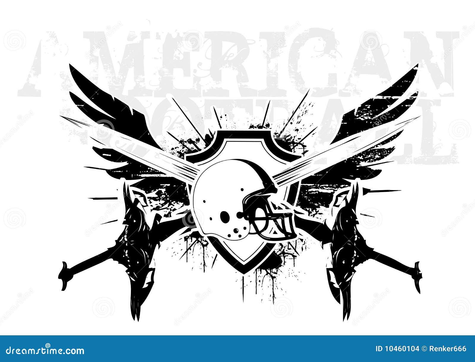 American football wings stock vector illustration of dirty 10460104 american football wings buycottarizona