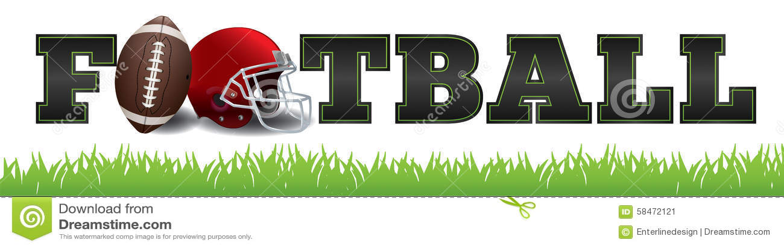 American Football Word Art Illustration Stock Vector