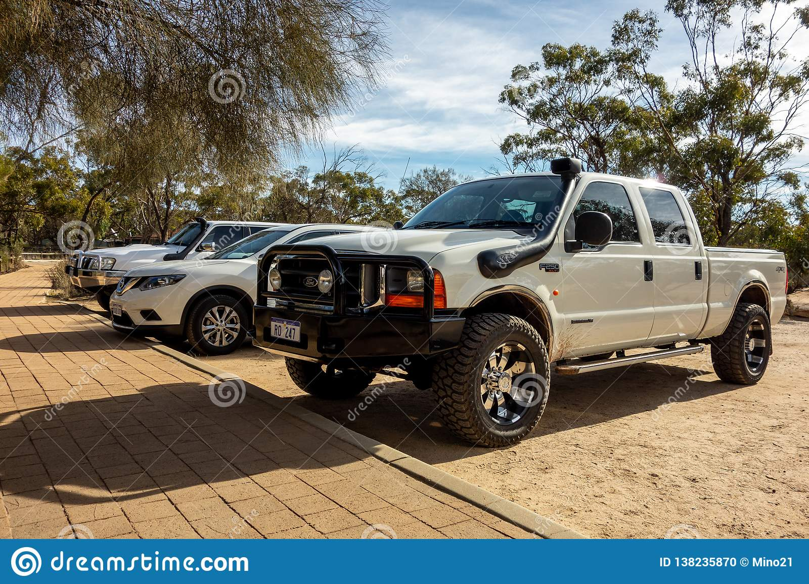 American Ford F250 Xlt White Pickup In Outback In Western Australia