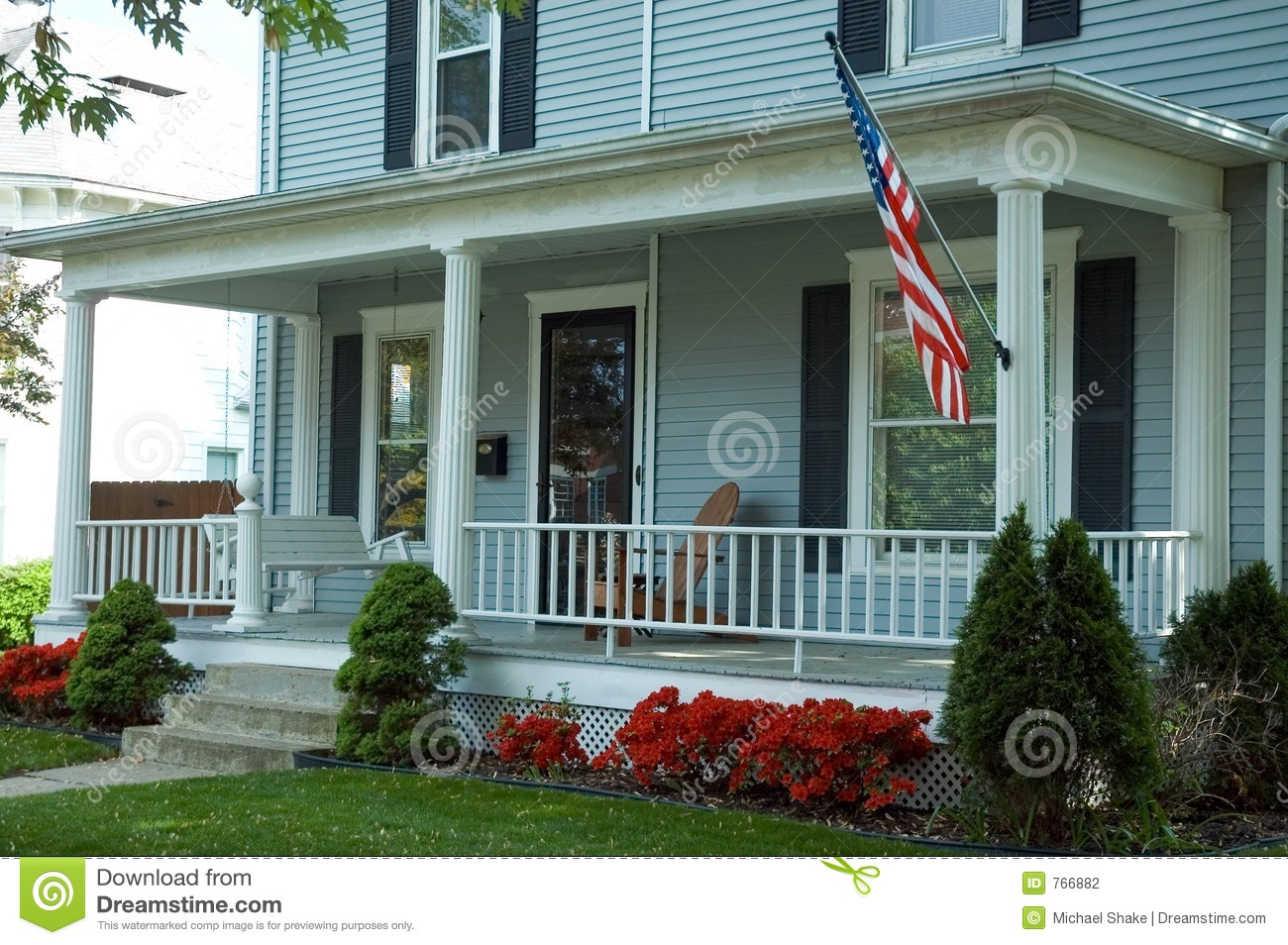american front porch stock photography image 766882