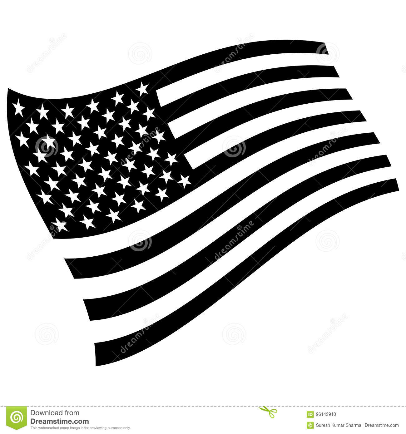Black And White American Flag Clipart | Free Images at Clker.com - vector clip  art online, royalty free & public domain