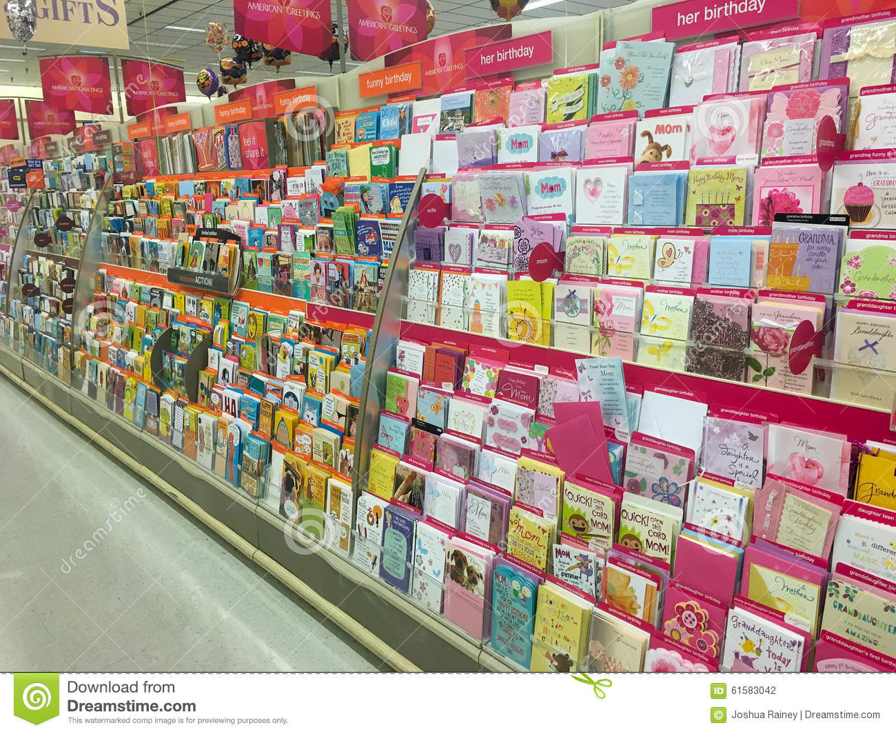American Greetings Card Selection At Store Editorial Photography