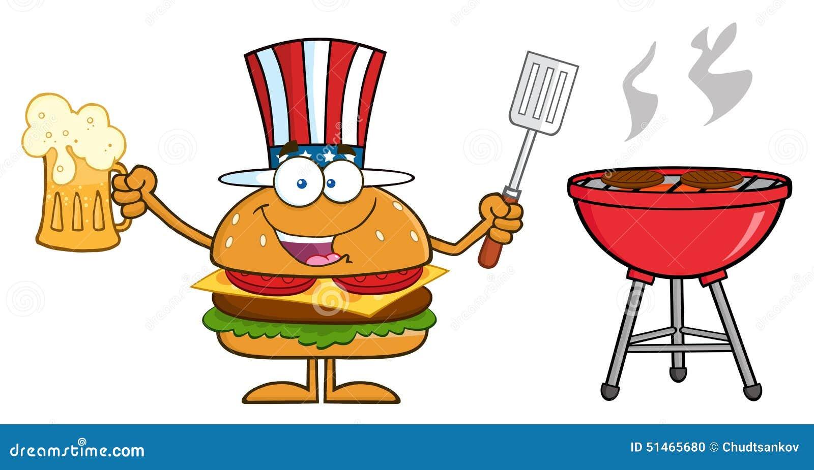 American Hamburger Cartoon Character Stock Illustration ...
