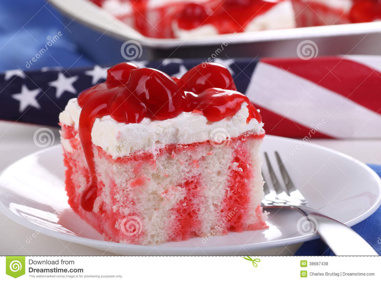 American Holiday Cherry Cake
