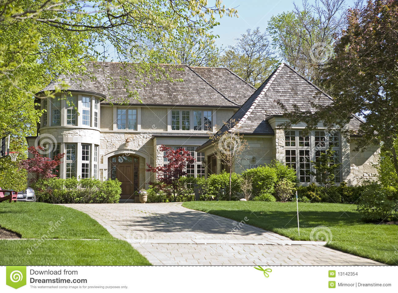 American Home And Garden Stock Photo Image Of Green