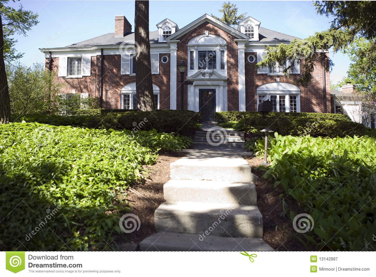American Home And Garden Royalty Free Stock Photography