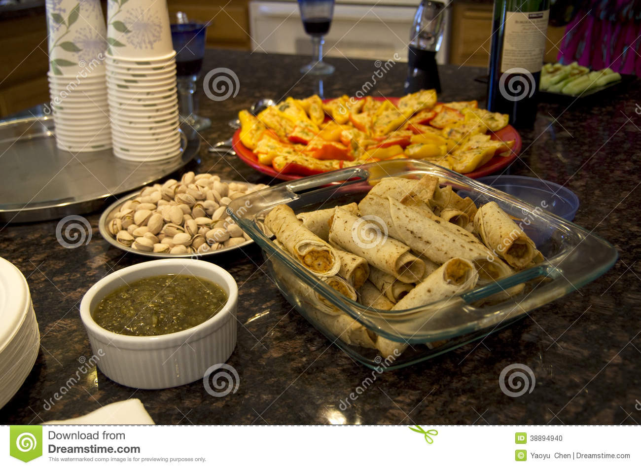 American home party food stock photo image 38894940 for House party recipes