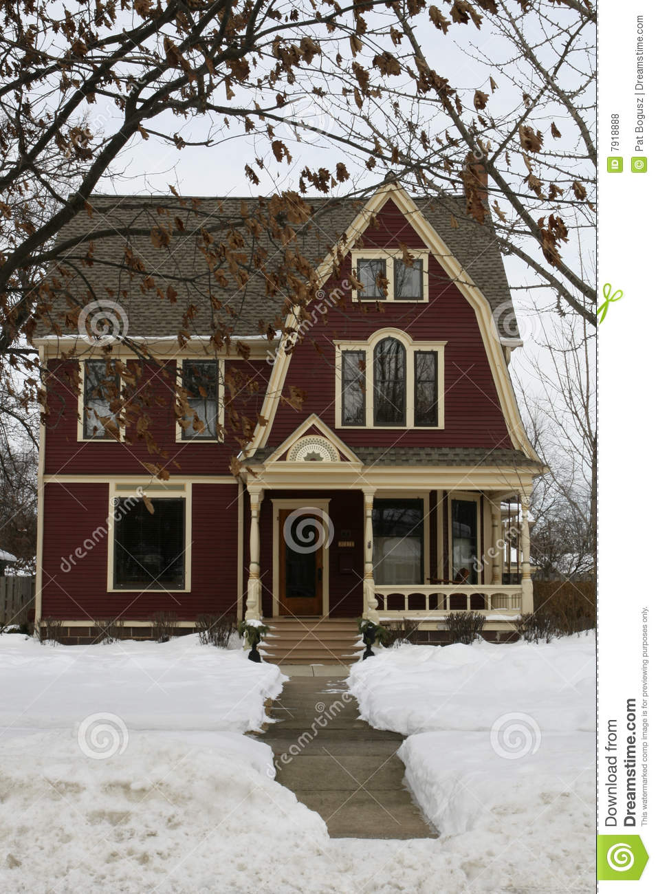 American Home in Winter