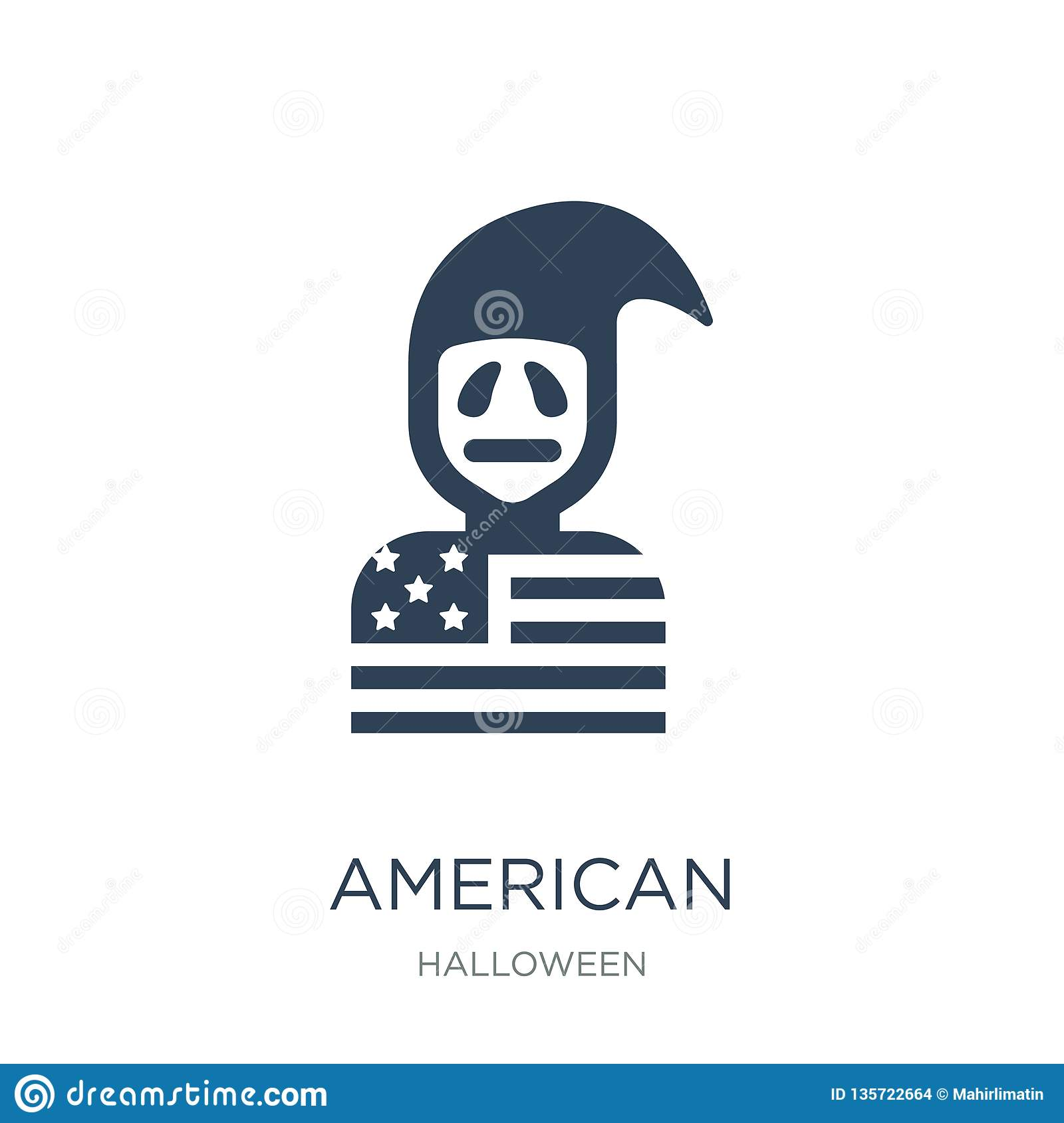 american icon in trendy design style. american icon isolated on white background. american vector icon simple and modern flat