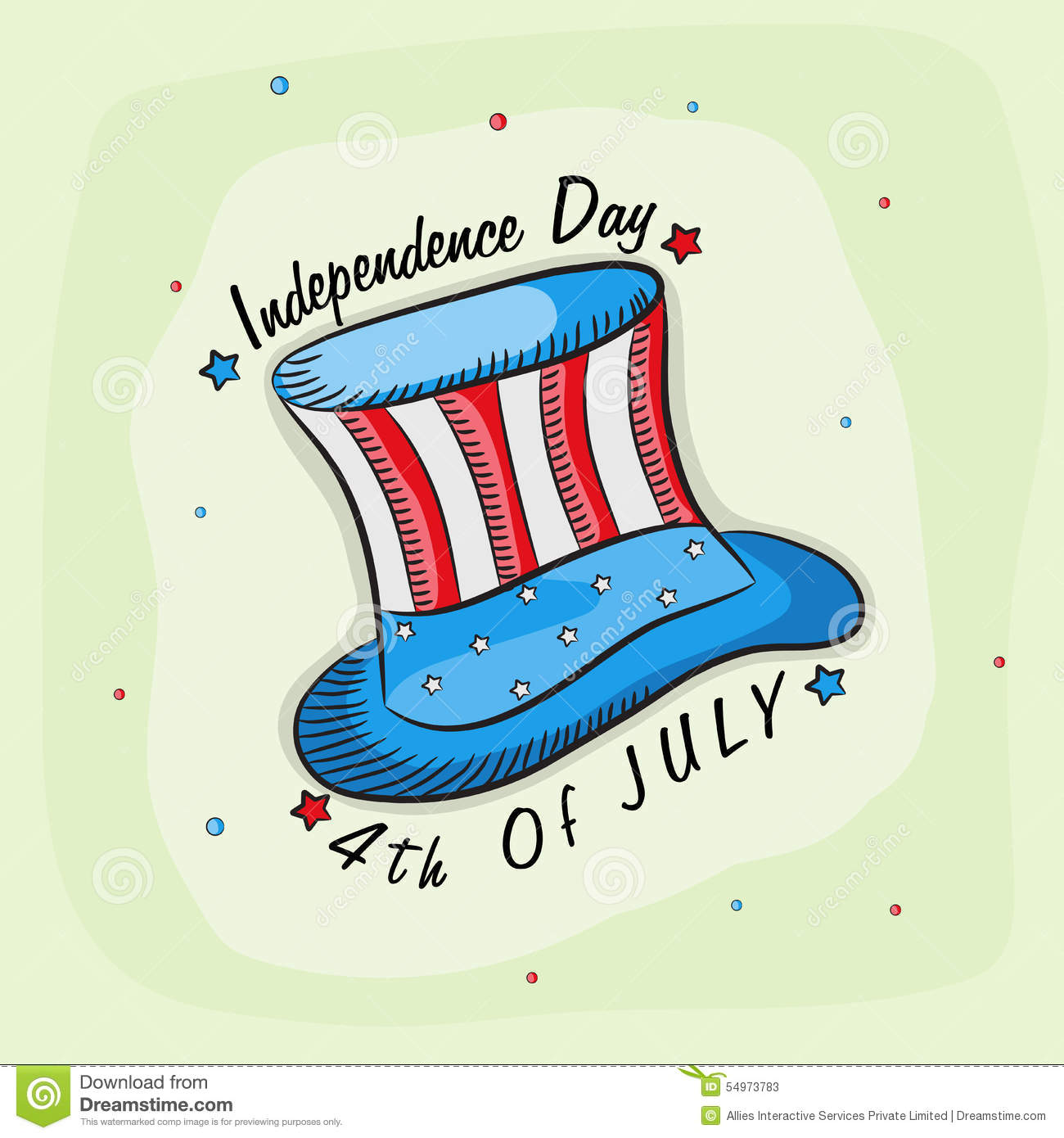 Creative american independence day vector illustration for Th background color