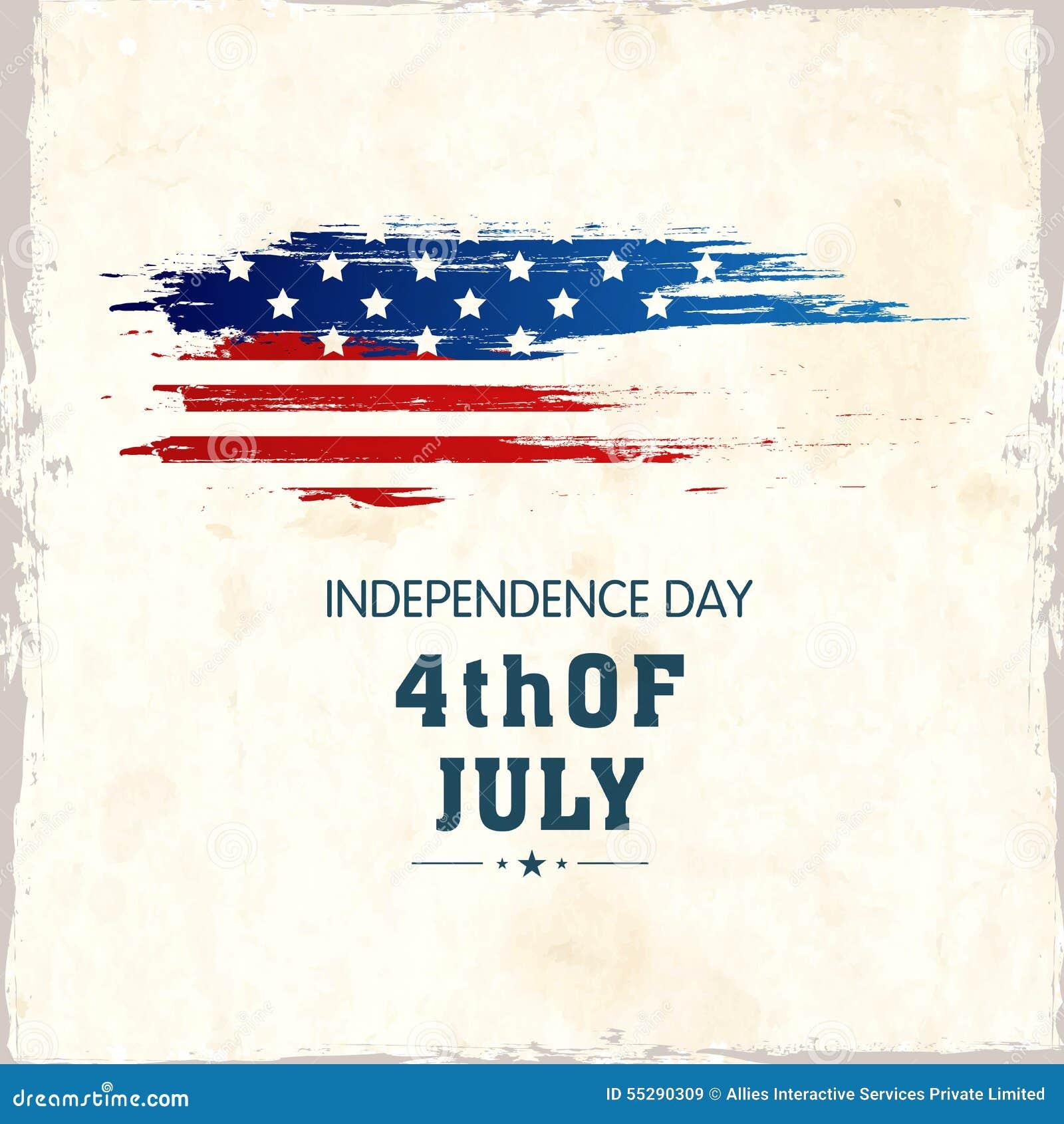 American Independence Day Celebration Poster, Or Banner Design.