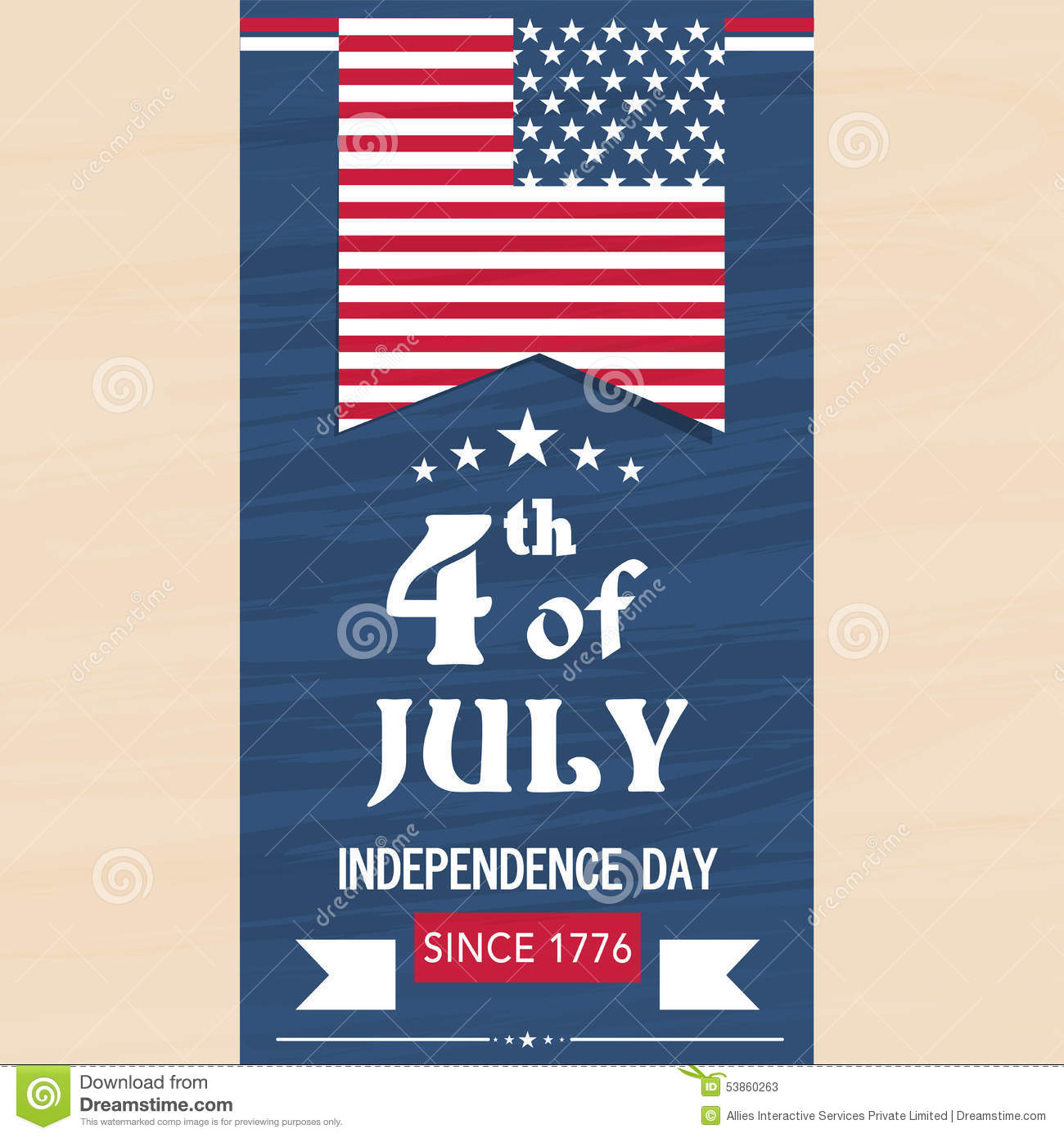 American Independence Day Flyer Or Template. Stock Illustration ...