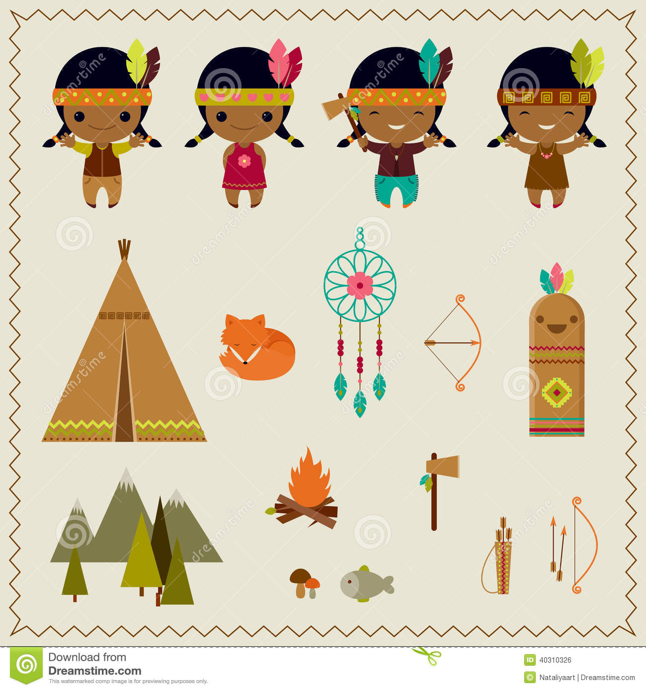 american indian clipart icons design stock vector illustration of rh dreamstime com clipart indian wedding clipart indians black and white