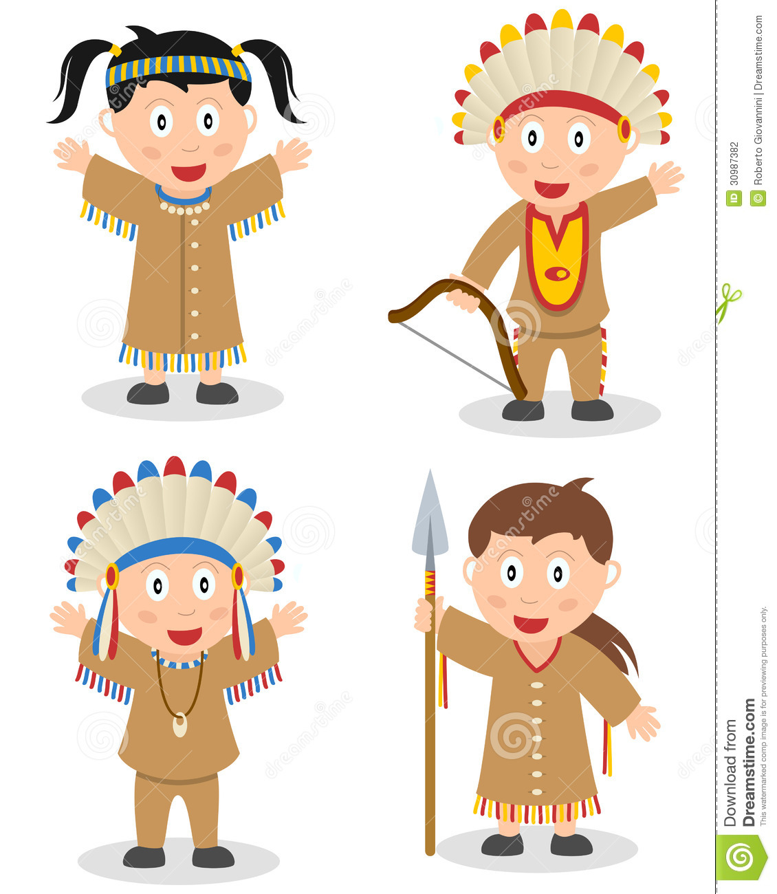 American Indian Kids Collection Stock Photography - Image ...