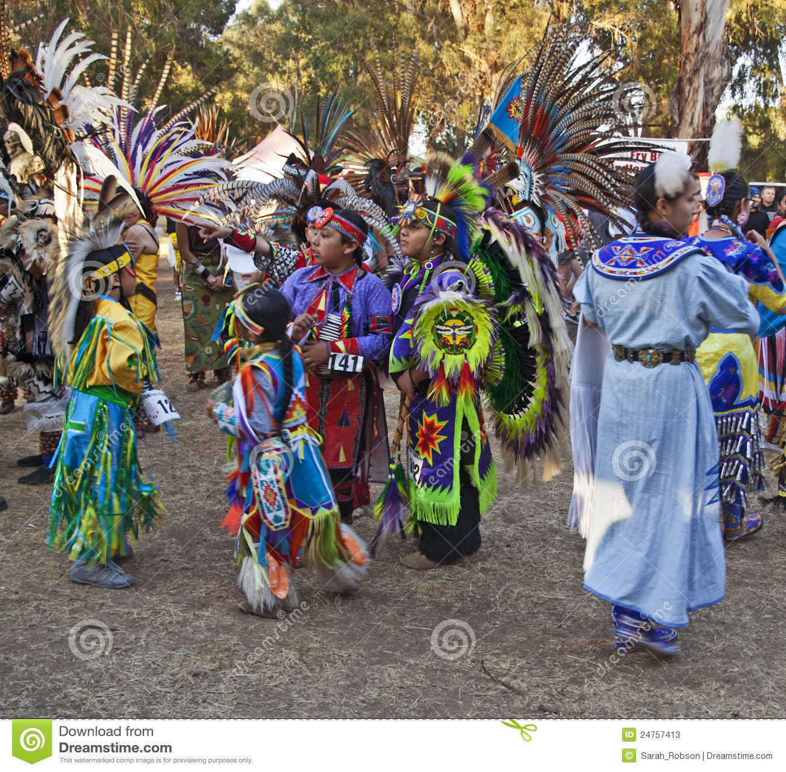 American Indian kids at Stanford PowWow