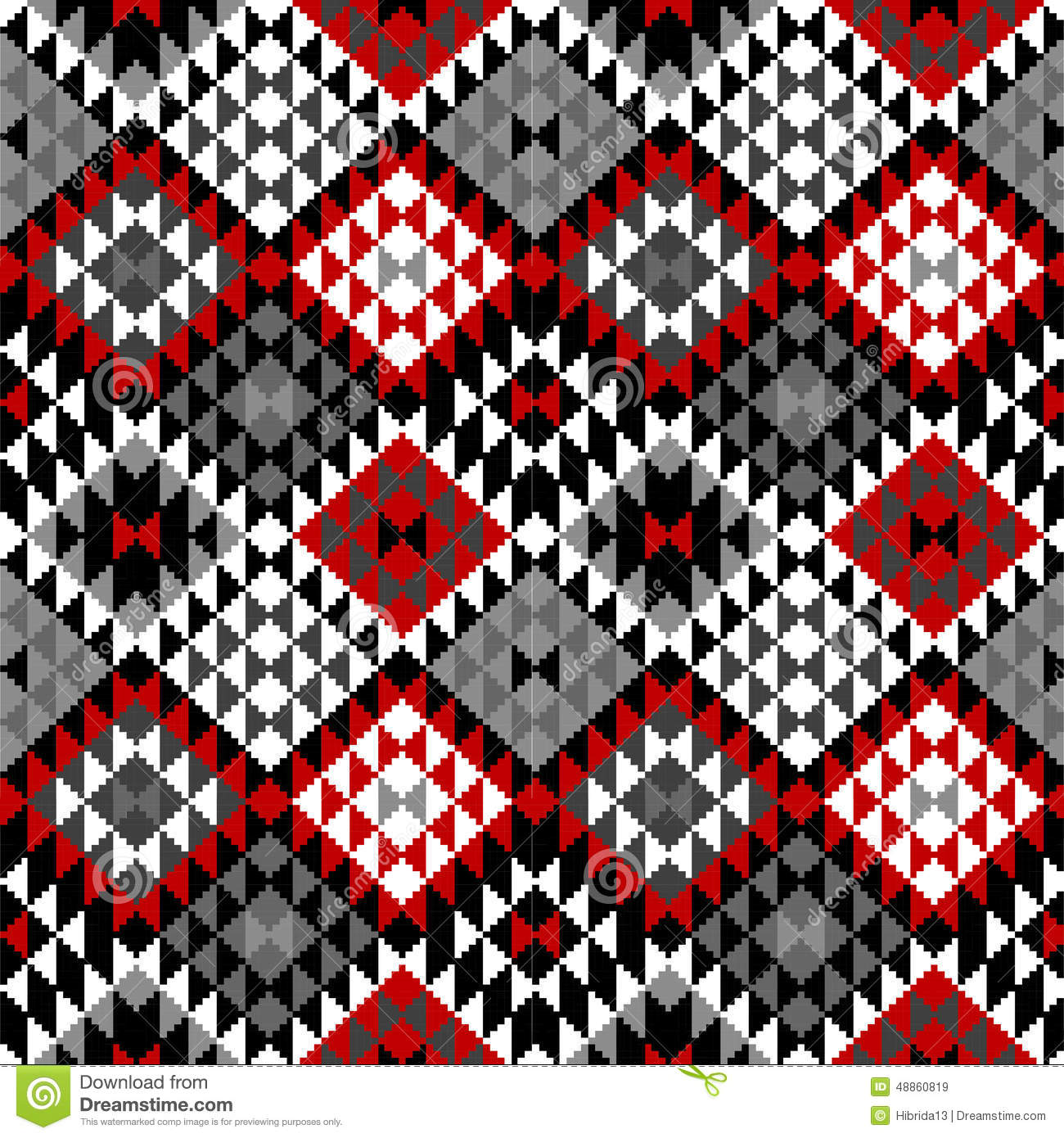American Indian Seamless Pattern Design Stock Vector