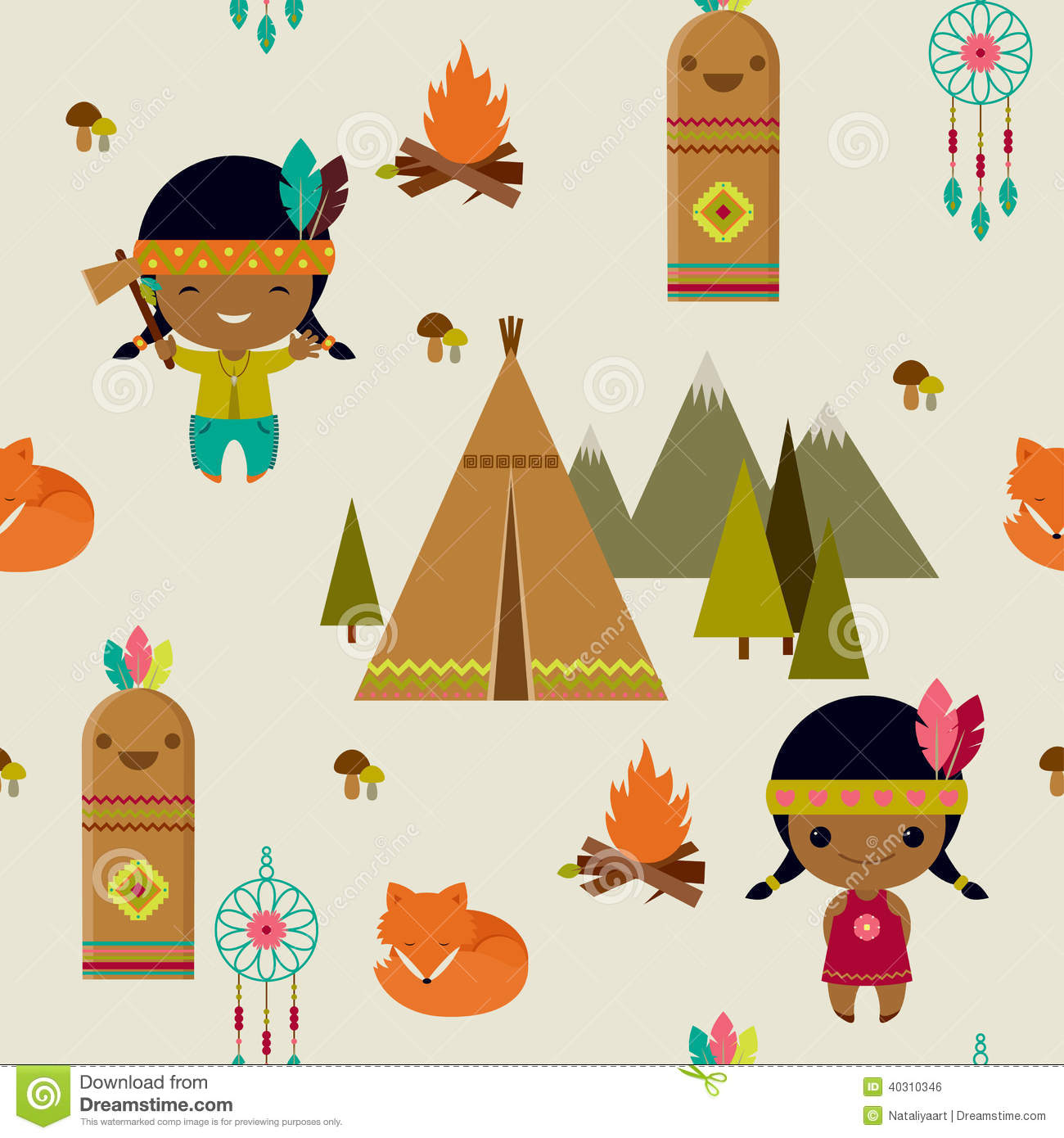 Kids Native American Art Design
