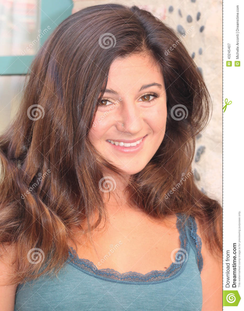 Italian American: Perfect Smile Stock Image. Image Of Nose, Girl, Smiling