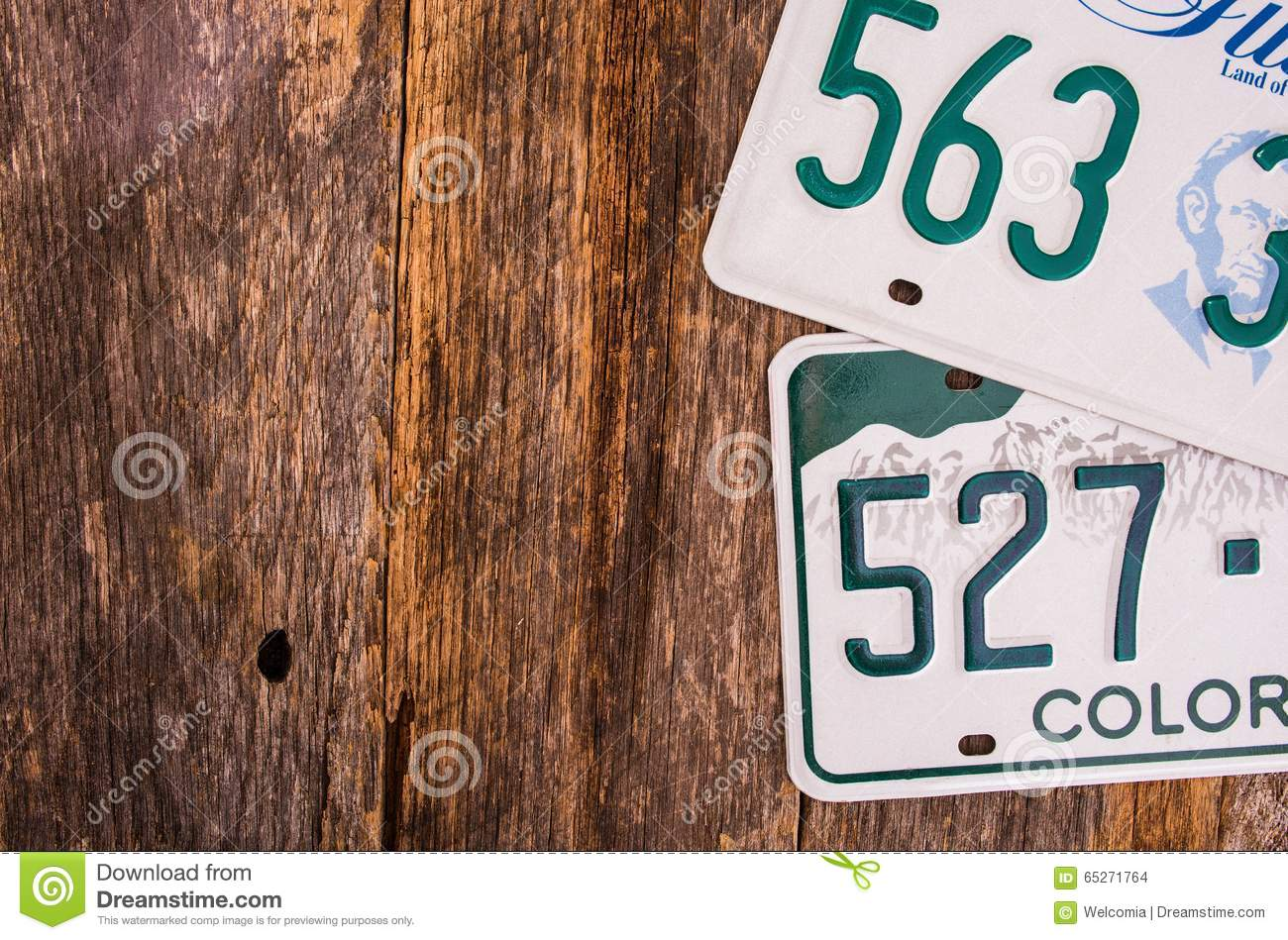 American License Plates Stock Photo