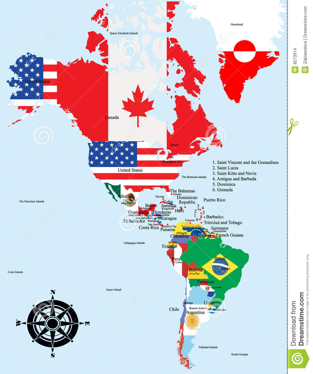 American Map With Country And City Names Stock Images Image - Canada map city names