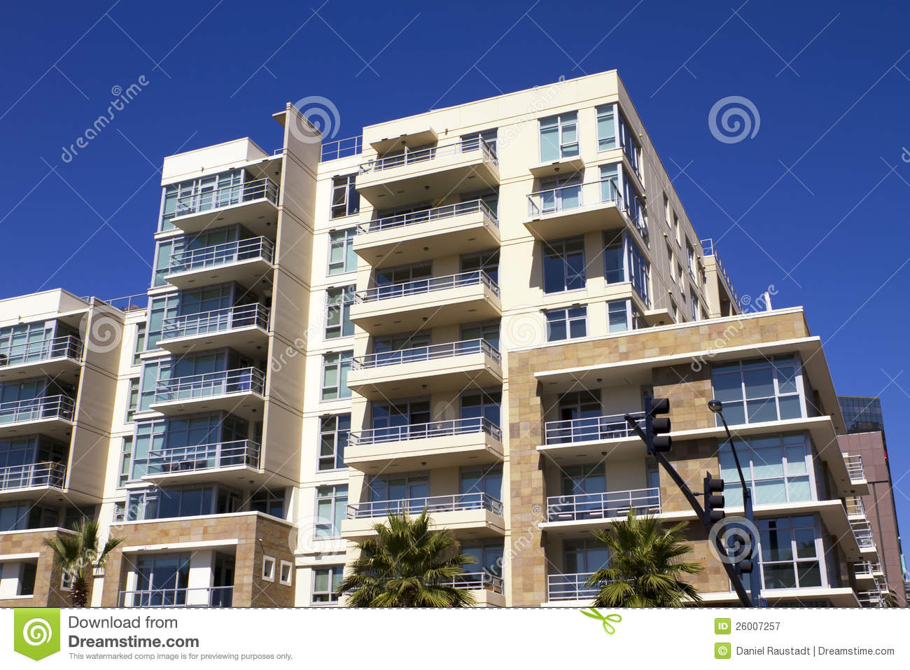 American Modern Condominiums And Retail Building Royalty