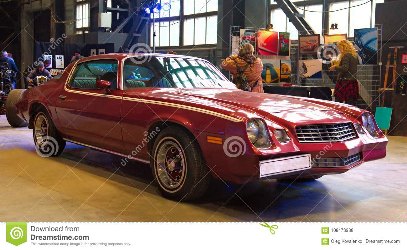 American Muscle Car On Custom Tuning Show Editorial Stock Photo