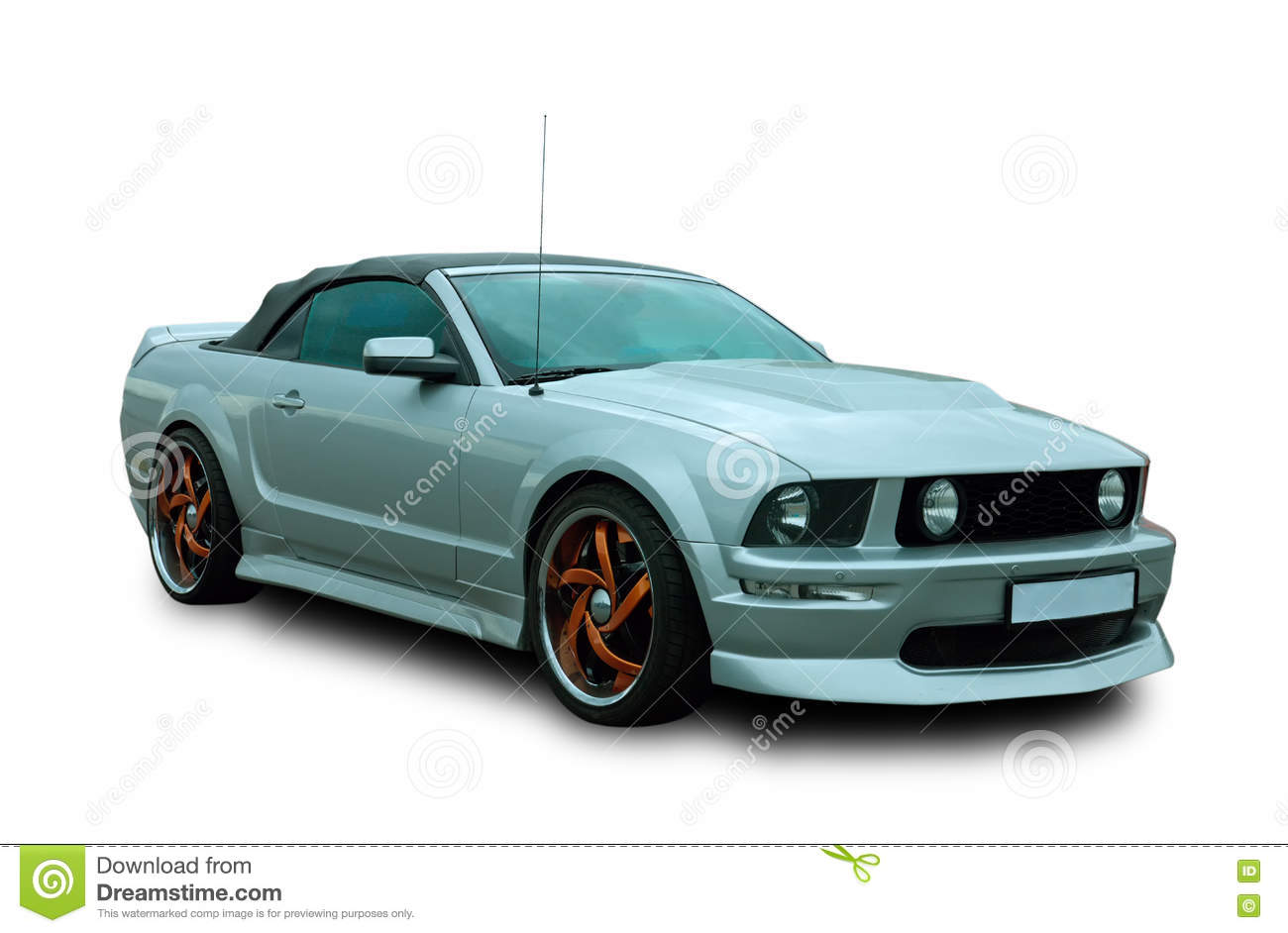 American muscle car editorial stock image. Image of convertible ...