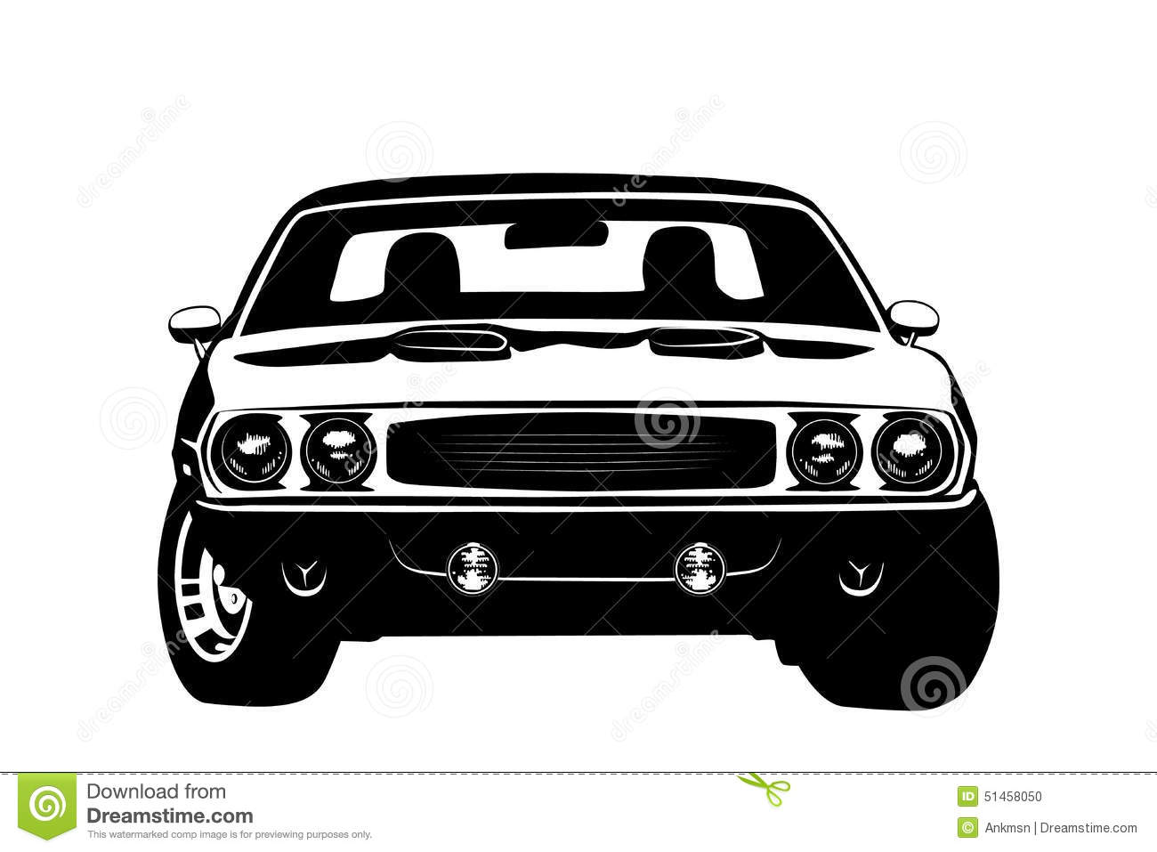 American Muscle Car Legend Silhouette Stock Vector Image