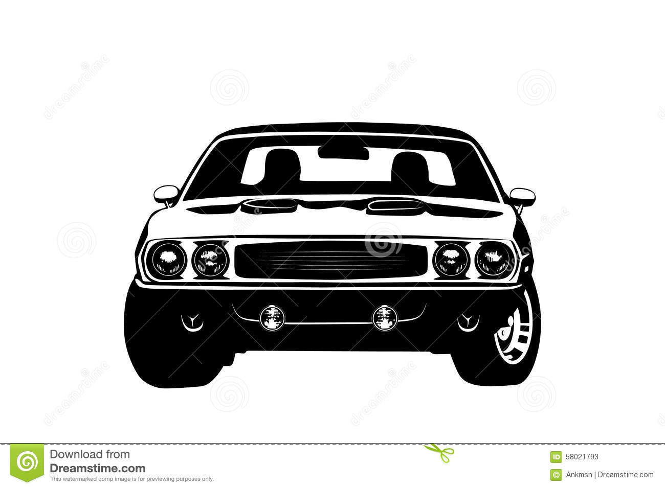how to draw a american muscle car
