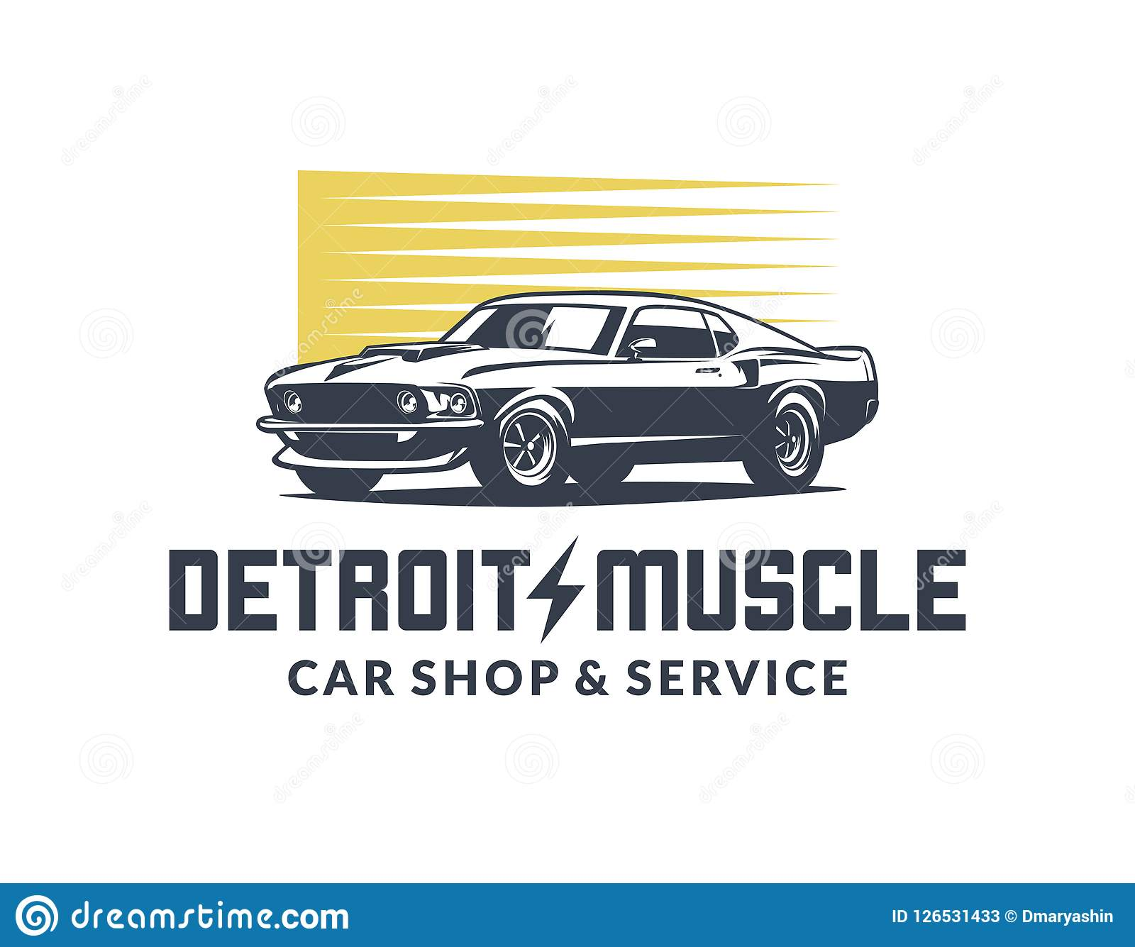American Muscle Car Vector Logo Stock Vector Illustration Of