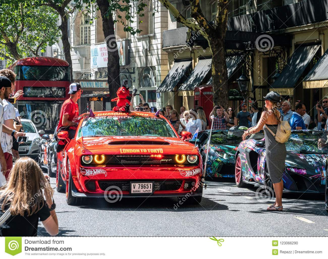 Red Dodge Challenger Srt Demon Editorial Image Image Of Gumball3000 Modern 123066290