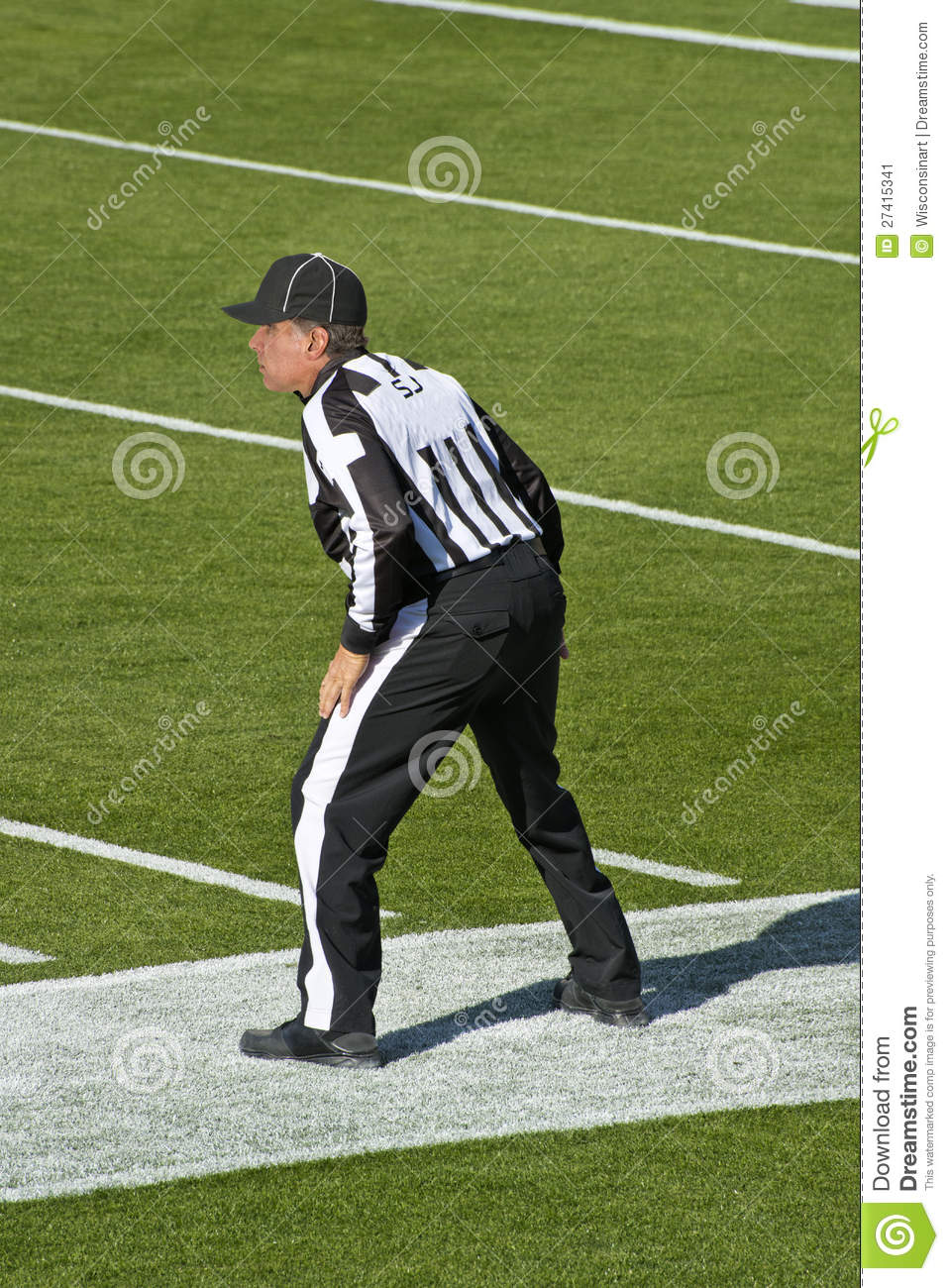 american nfl football referee stock image