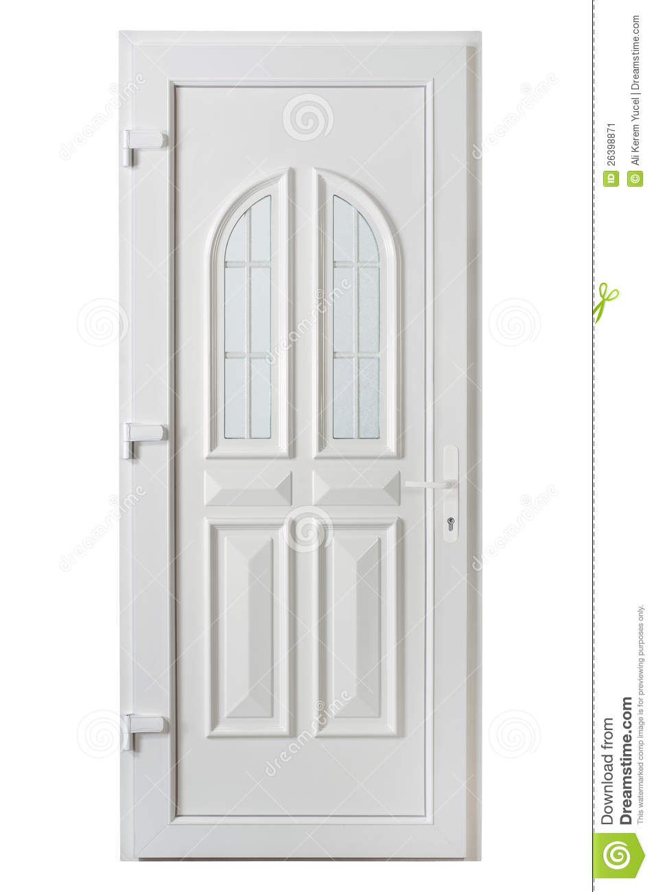 Pvc Panel Doors : American panel pvc door with frosted glass stock image