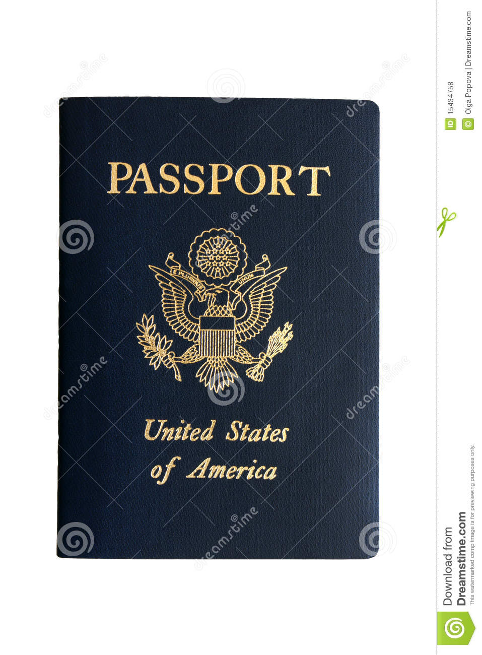 American Passport Royalty Free Stock Photos - Image: 15434758