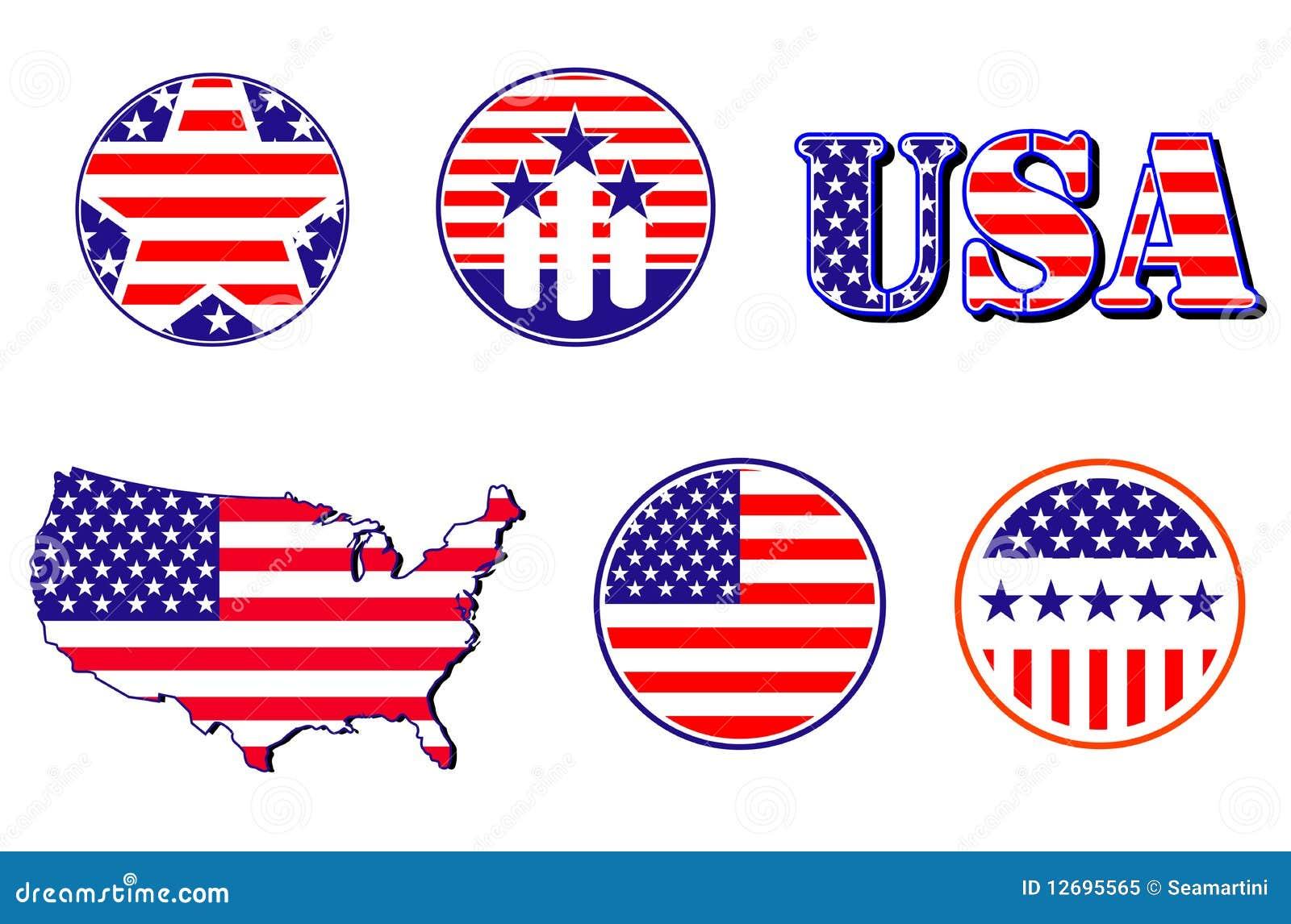 American Patriotic Symbols Stock Vector Illustration Of Justice