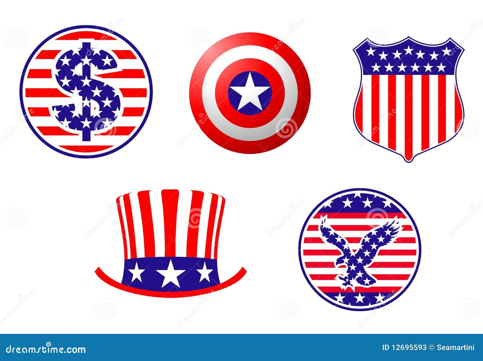 american patriotic symbols stock vector image of flag