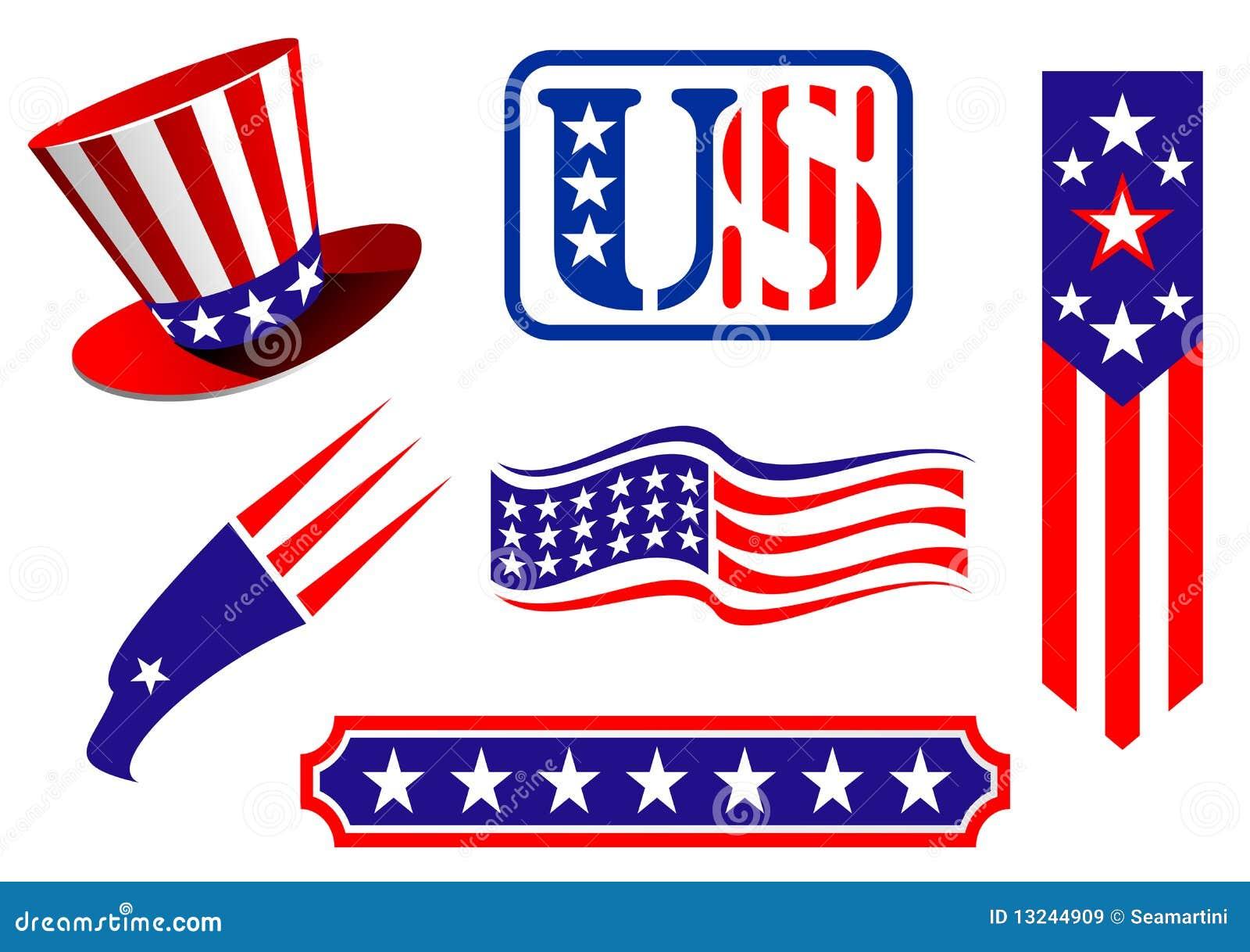 American Patriotic Symbols Stock Vector Illustration Of Design