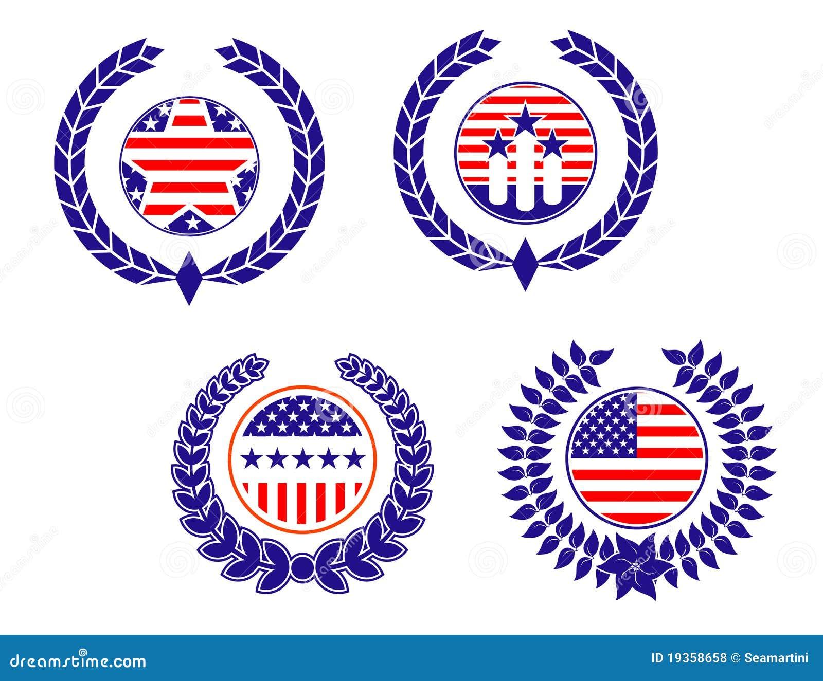 American Patriotic Symbols Stock Vector Illustration Of Government