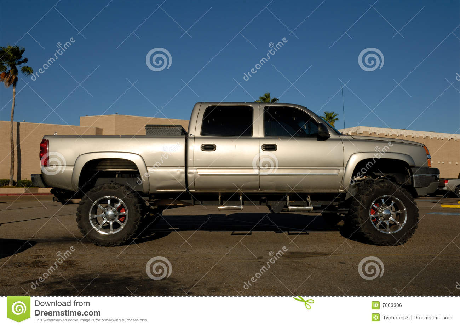 American pickup truck stock photo. Image of wheels, truck ...