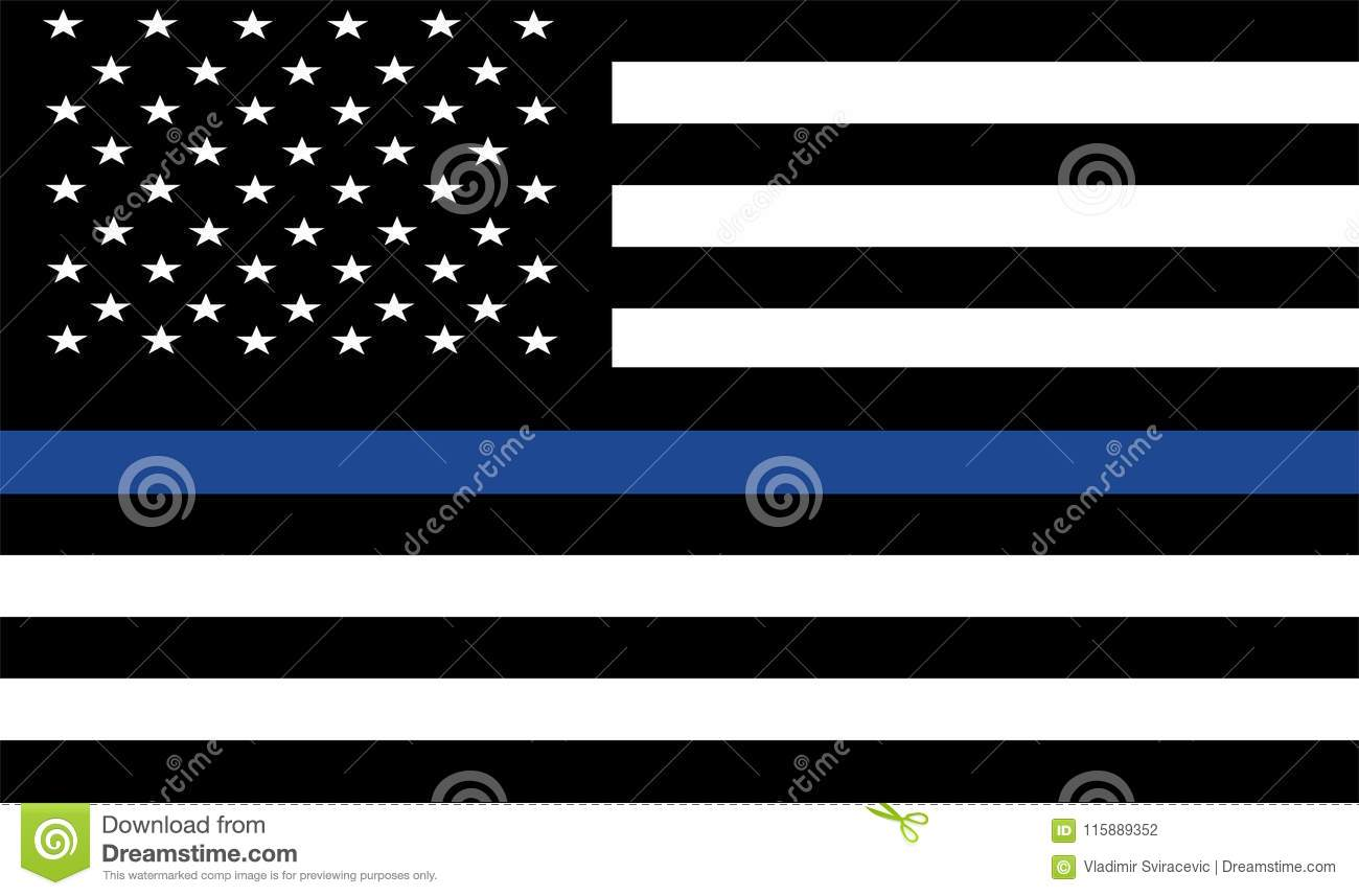 American police flag . stock illustration. Illustration of ...