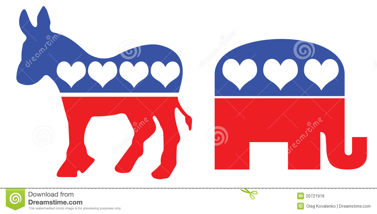 American Political Party Symbols Editorial Photo Illustration Of