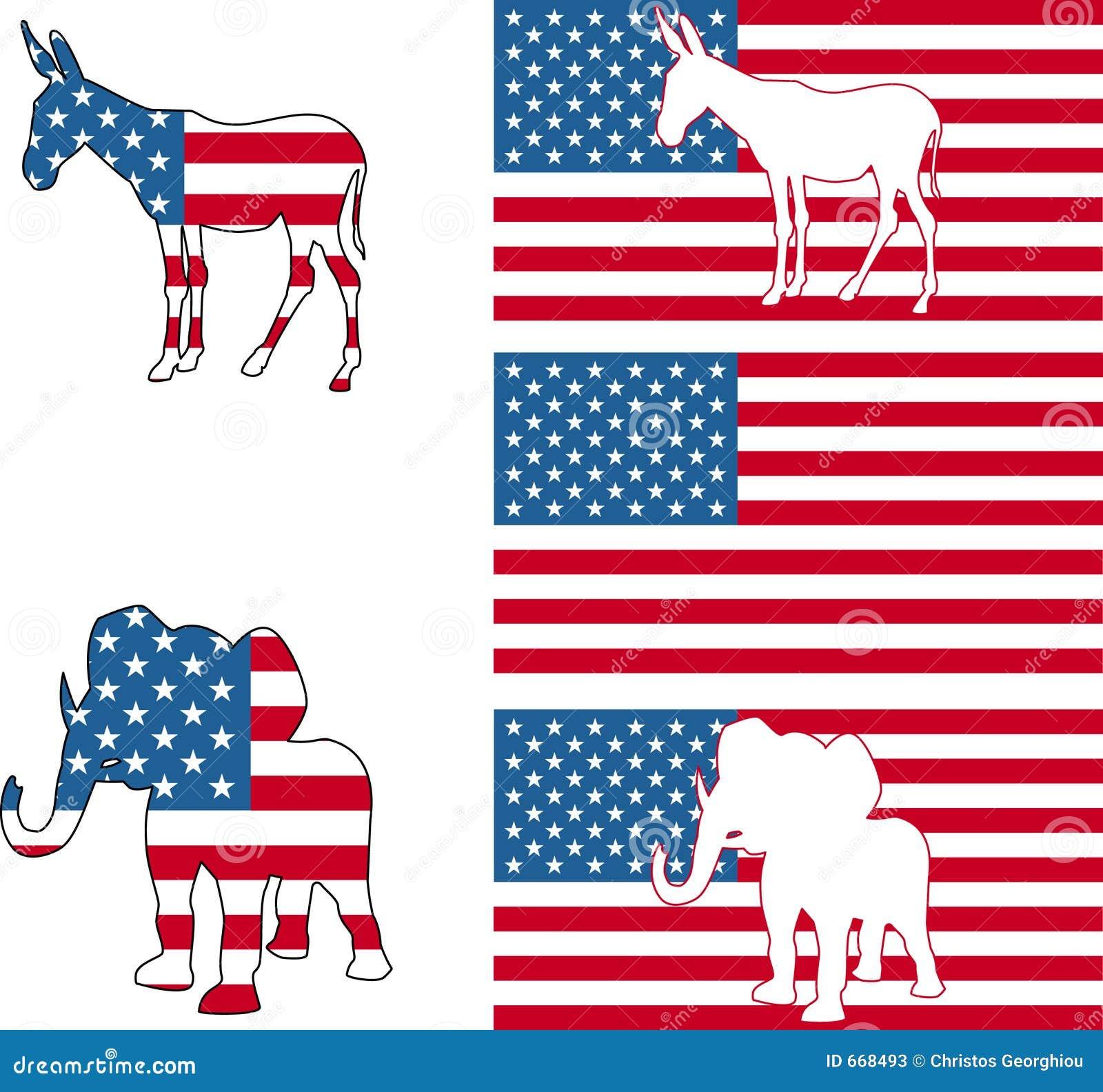 American Political Symbols Stock Photos - Image: 668493