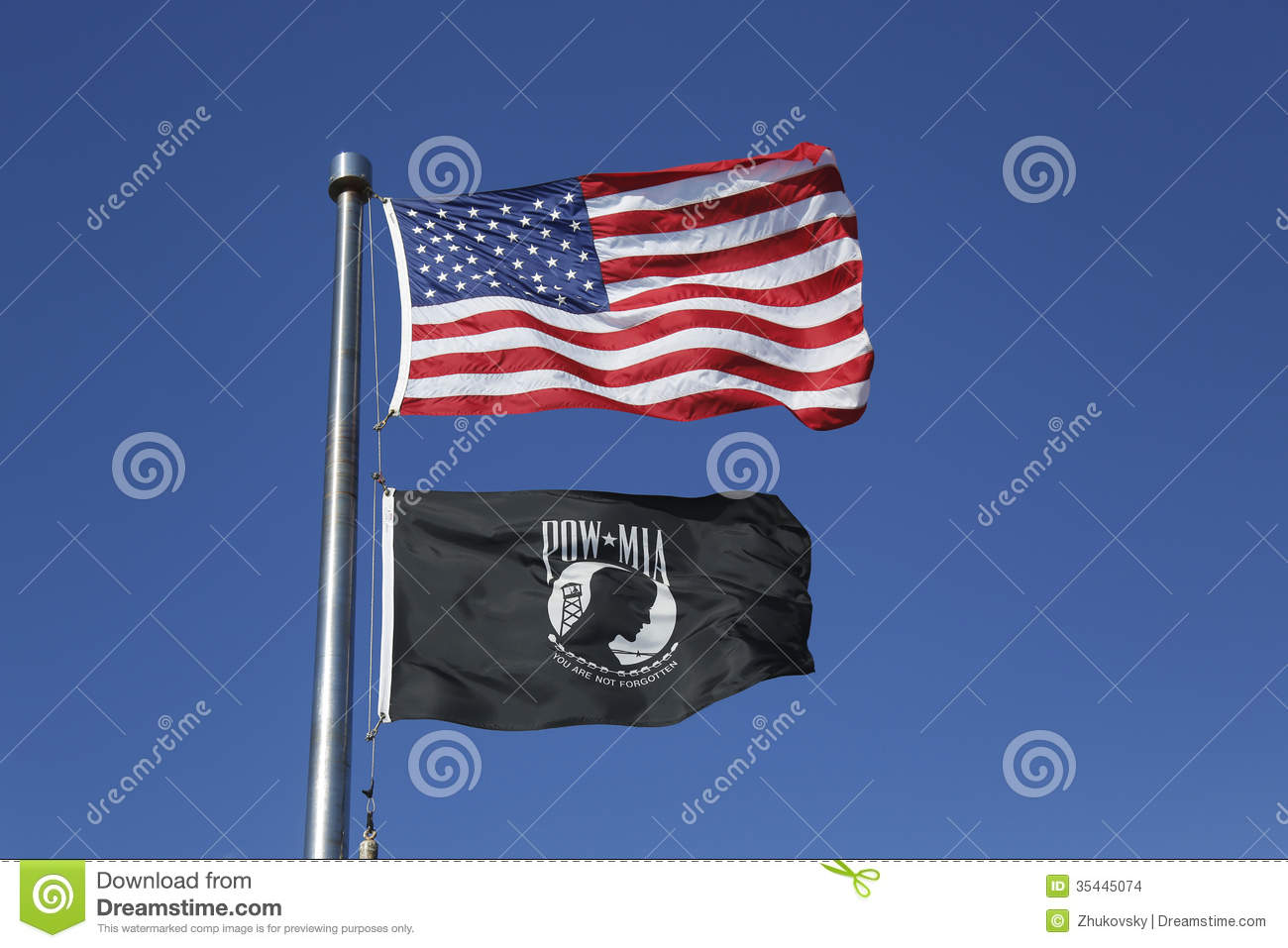American And POW/MIA Flags Stock Images - Image: 35445074