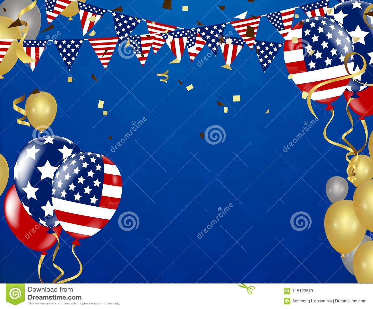 327806df92a American President Day background of stars flying. Holiday confetti in US  flag colors for President