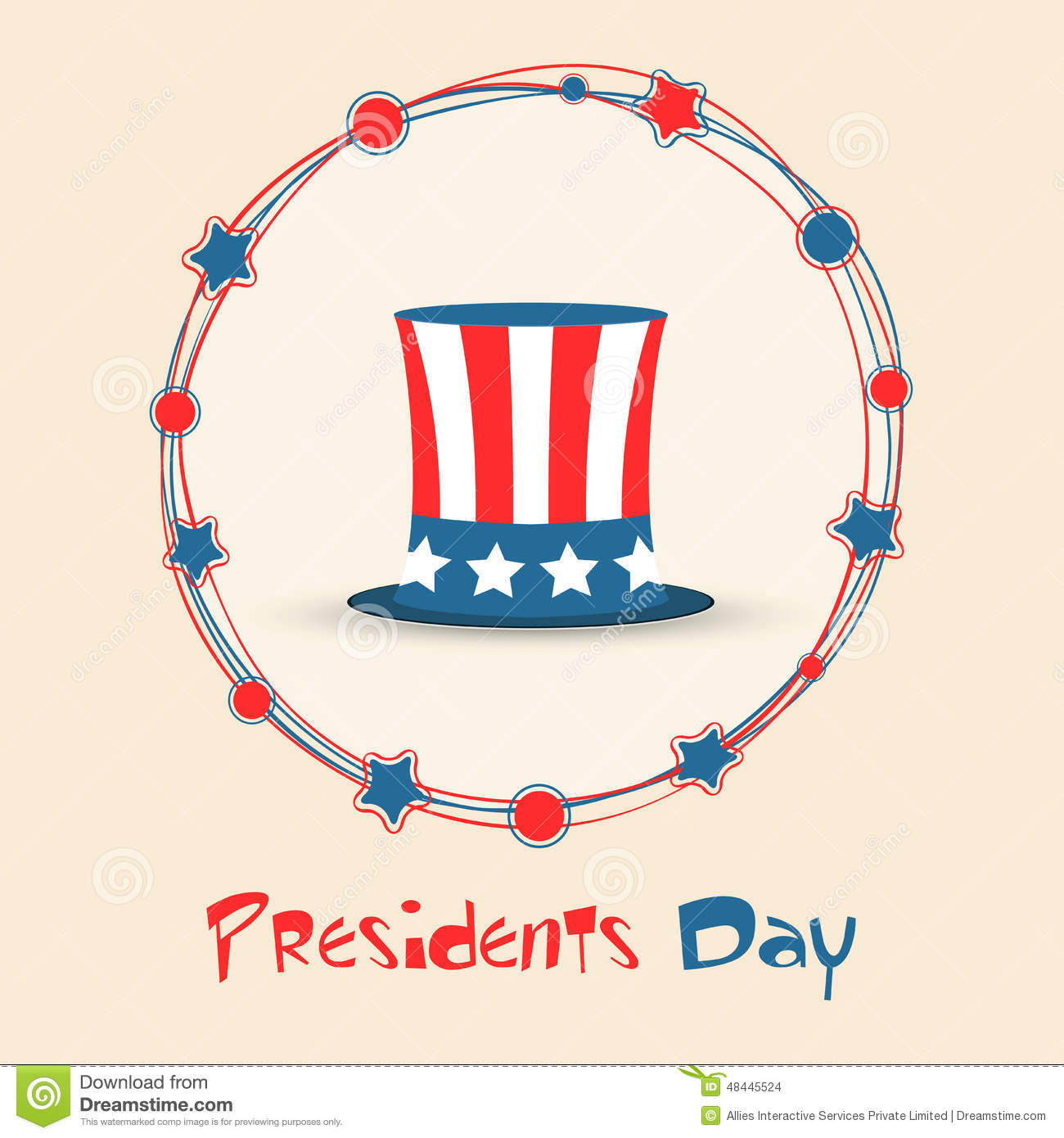 Extended Presidents Day: American Presidents Day Celebration Concept. Stock