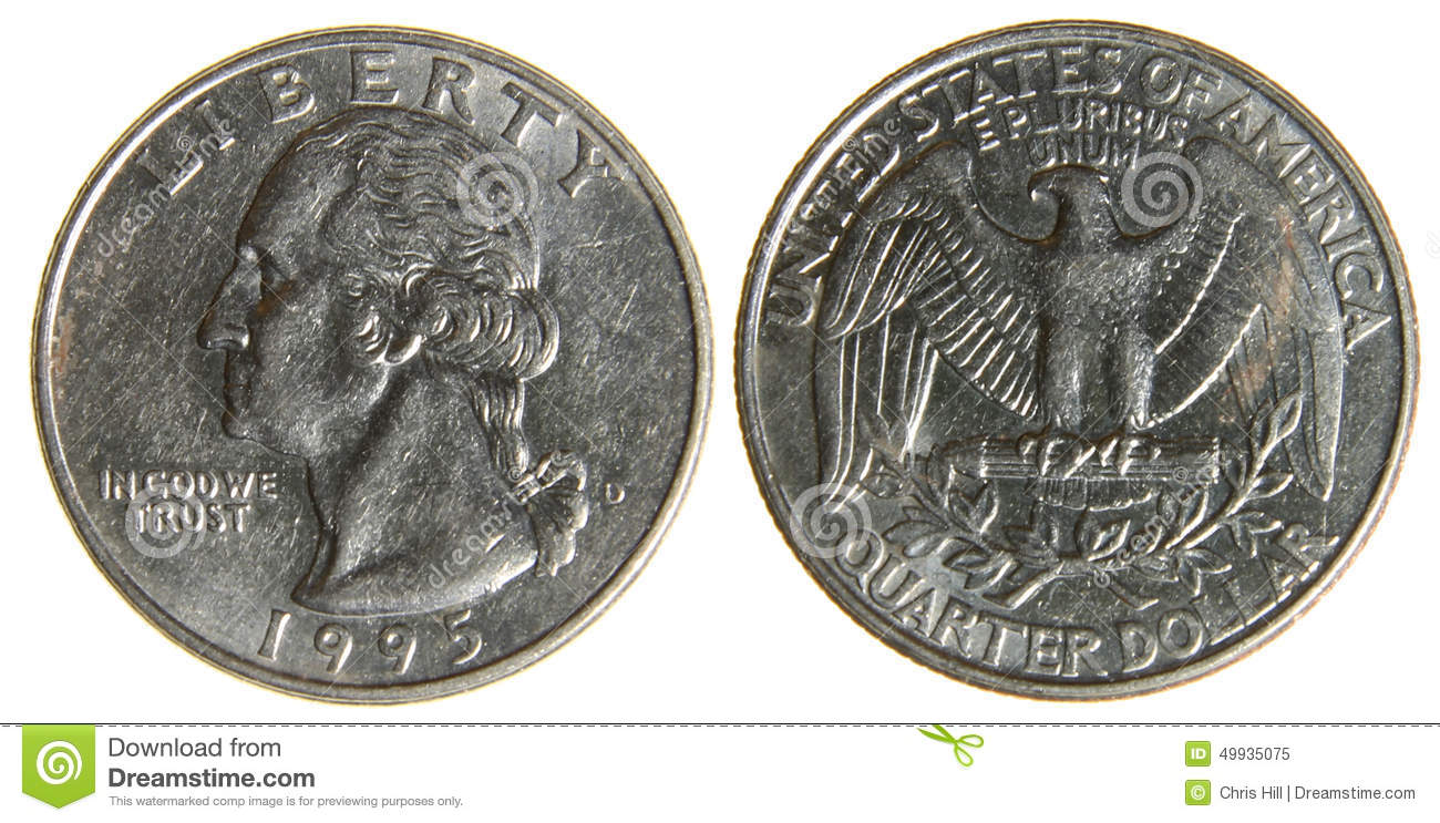American Quarter From 1995 Stock Photo